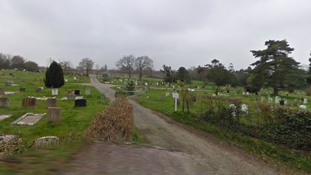 Halesworth Cemetery exit on Loam Pit Lane, where a woman was assaulted. Picture: Google Maps