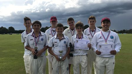 Swardeston's successful Under-15 side picture after their win at the Norfolk Youth Festival. Picture