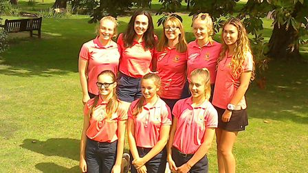 Norfolk's girls team line up for a photorgraph at Colne Valley Golf Club. Picture: Norfolk LCGA