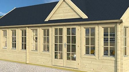 A computer generated image of the proposed tea room at Fearns Fields in Cromer. Picture: MIKE LEE AR