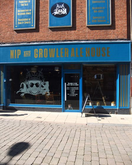 The Nip & Growler pub is now open in King's Lynn town centre. Picture: Ian Burt