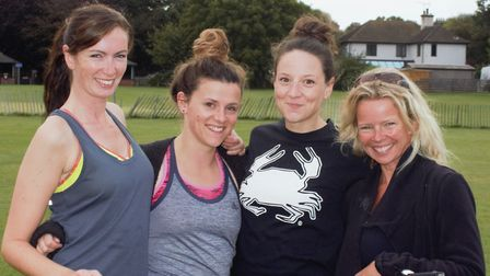Left to right, Dani Holford, Jess Frere-Smith, Jo Thompson and Juli Kett-Brodie.Pictures: Juli Kett-