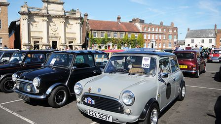 Minis line up in the Tuesday Market Place in King's Lynn. Picture: Chris Bishop