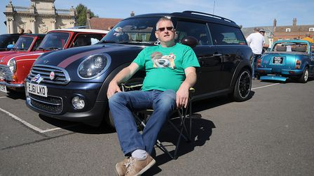 Dean Newton with his limited edition Mini. Picture: Chris BIshop