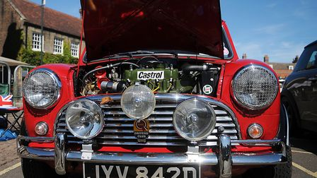 Close-up of a 1966 Mini. Picture: Chris Bishop