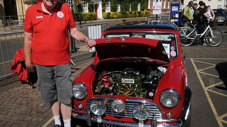 Mervyn Holsey with his 1966 Morris Cooper. Picture: Chris Bishop