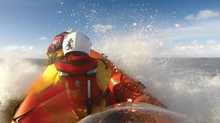 The Hemsby lifeboat in operation on a previous call-out. Picture: Hemsby Lifeboat