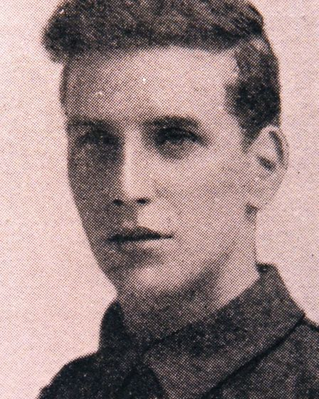 Young hero: Wilfred Edwards VC.