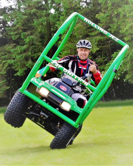 Jez Avery will perform stunts at the Lowestoft Lions charity Gala Day on Oulton Broad. Pictures: Mic