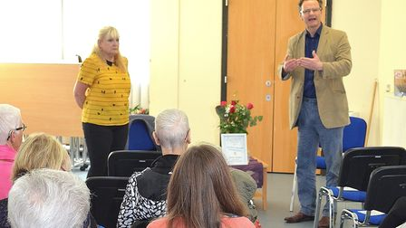 A scene from last year's event. Waveney MP Peter Aldous opened the fourth Lowestoft Library Literary