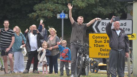 The East Coast Truckers set off from County Hall on their charity convoy. Photo: Sonya Duncan