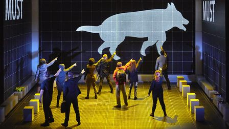 Cast of The Curious Incident of the Dog in the Night-Time. Photo: Brinkhoff-Mögenburg
