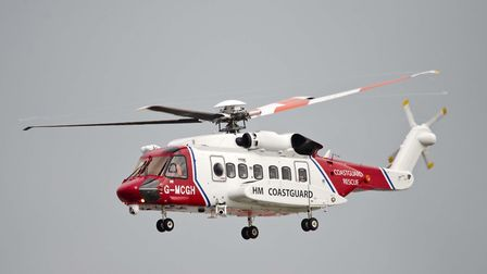 Library image of the coastguard helicopter. Photo: PAUL DAMEN