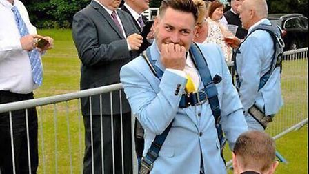 Jai Baker has last minute nerves ahead of his wedding in the sky. Picture: Victoria Marquees
