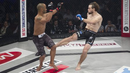 Ipswich featherweight Corrin Eaton, right, gets his big chance at Cage Warriors on September 16