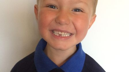Leo Wilson, who is starting at Hingham Primary School. Picture: Emily Wilson