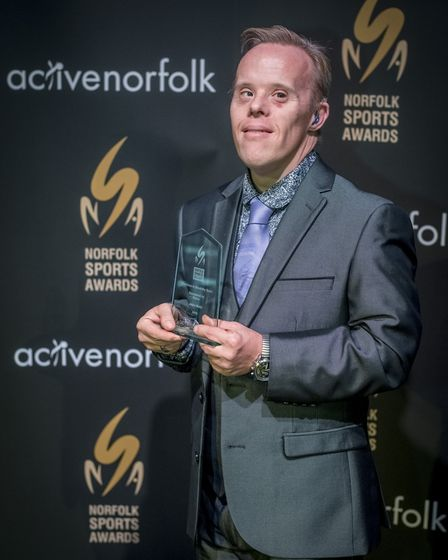 Scenes from the Norfolk Sports Awards 2016 held at Open in Norwich - Service to Disability Sport, Ja