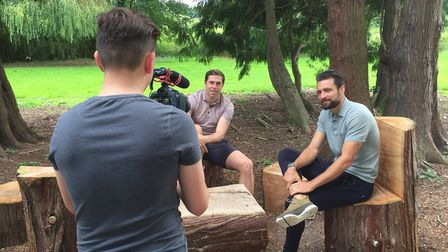 Grant Holt and Russell Martin will star in a new game show at Norwich OPEN. Picture: Radius Sports M