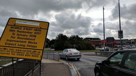 The Fullers Hill roundabout in Great Yarmouth. Photo: George Ryan