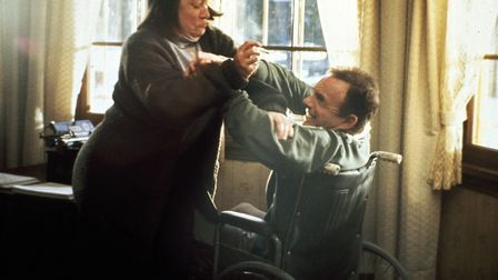 Kathy Bates and James Caan in Misery. Photo: Columbia Pictures
