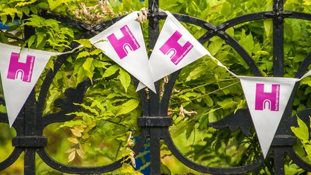 Heritage Open Days bunting is hung festively around the city at several events