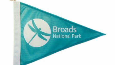 The Broads National Park burgee on sale from the Broads Authority. Picture: Broads Authority