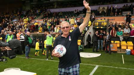 David Brown was chosen as Norwich City FC's Community Hero at Saturday's home game against Hull. Pic