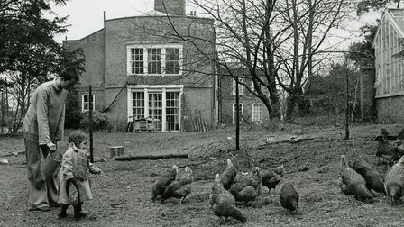 Crow Hall in Downham Market, February 1979. Picture: Archant Library