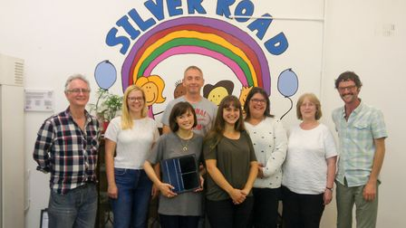 The team behind the bid at Silver Road Community Centre. From left to right: Pete Kelley, Rachel Cat