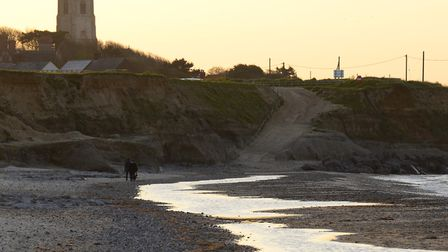 Happisburgh Beach at Sunset on the North Norfolk Coast. Picture: MARK BULLIMORE