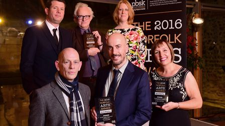 The 2016 Norfolk Arts Awards at the Hostry at Norwich Cathedral. Pictured are the 2016 EDP People's