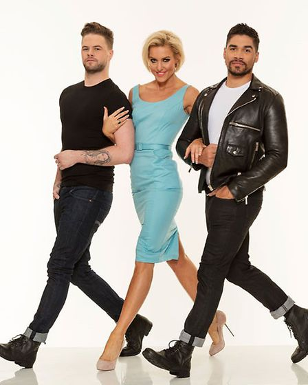 Jay McGuiness, Natalie Lowe and Louis Smith in Rip It Up. Photo: Submitted