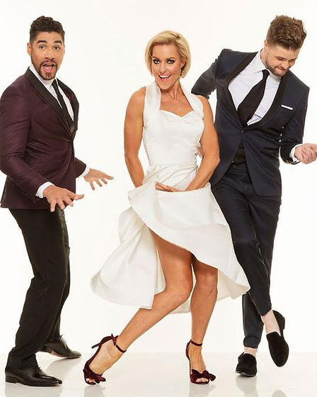 Louis Smith, Natalie Lowe and Jay McGuiness will be appearing in Rip It Up. Photo: Submitted