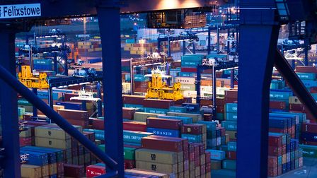 Port of Felixstowe is part of East Anglia's thriving economy. Picture: STEPHEN WALLER