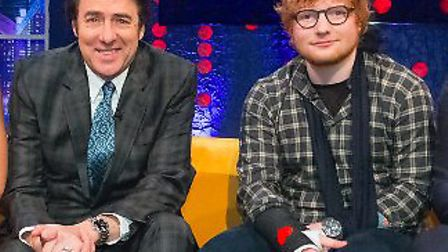 Ed Sheeran talks about his recent accident on The Jonathan Ross Show, Saturday October 21, 10.20pm,