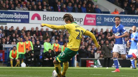 James Maddison became the latest Norwich player to score the first goal in an East Anglian derby at