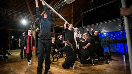 Total Ensemble perform It's a Wonderful Moon, George! as part of the Hostry Festival 2017 at Norwich