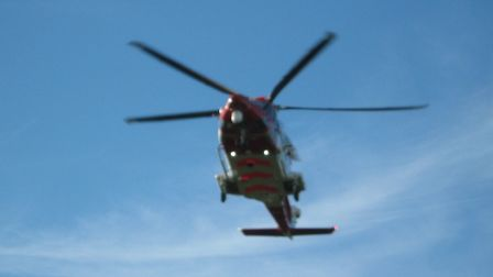 A team from HM Coastguard was called to help an offshore worker off the Norfolk coast. Photo: HM Coa