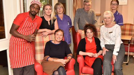 The Laurels Care Home in Attlebrough are improving their reputation. Some of the team. Byline: Sonya