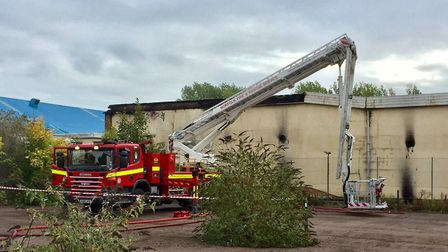 The scene of the fire at the derelict Pontins site in Hemsby. Picture: MICK HOWES
