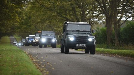 part of the convoy shortly after leaving Sandringham. Picture: Ian Burt