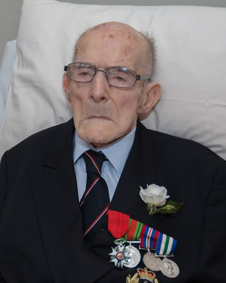 Tony with his medals, including the Legion d'Honneur. Picture: Courtesy of Brian Bilverstone