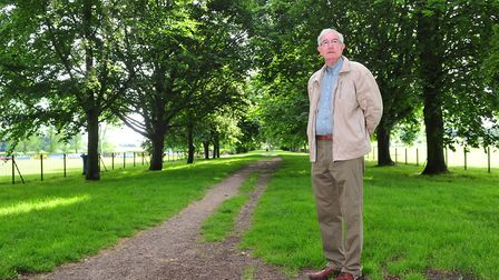 Beccles town councillor Graham Catchpole pictured at The Avenue last year following the launch of hi