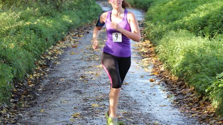 Samantha Laurie taking part in the run. Picture: Geoff Eley
