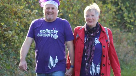 Graham Laycock and Linda Marshall. Picture: Geoff Eley