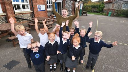 Northrepps Primary School reception class are just one of the many classes to feature in this year's