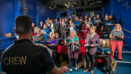 The Rogues Chorus from north Suffolk rehearse at The Seagull Theatre, Lowestoft. Picture: SIMON FINL