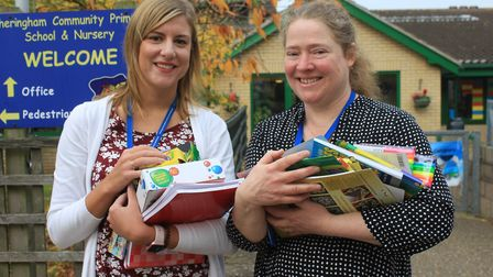Teachers Kerrie Turner and Anne Stokes, who will be heading out to Ghana as part of a British Counci