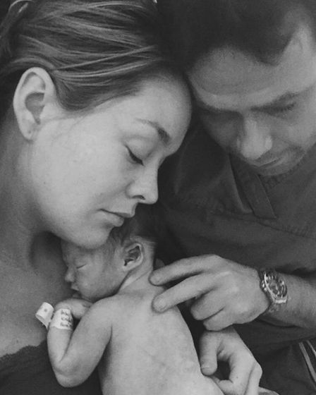 William Knights, who died on November 19, 2015, with his parents Rachael and Julian. Photo: Knight f