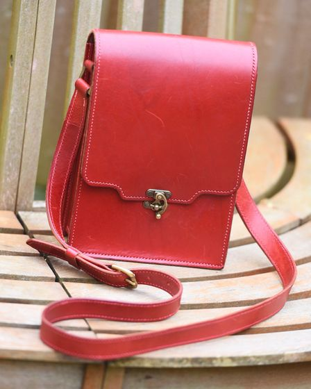 Vegetable-tanned leather costs about �8 per square foot. A decent-sized bag uses four or five square